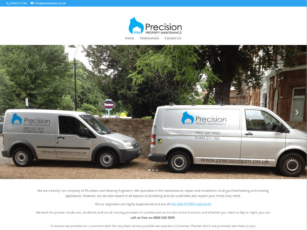 Precision by Hemel Web Design