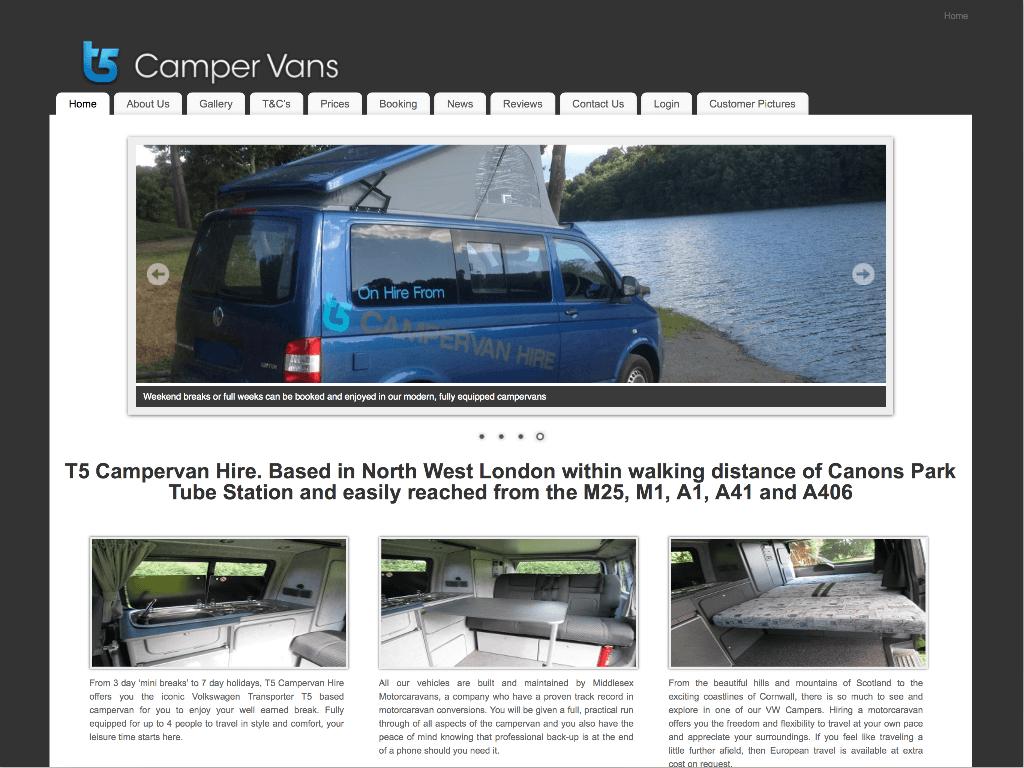 T5Campervans by Hemel Web Design