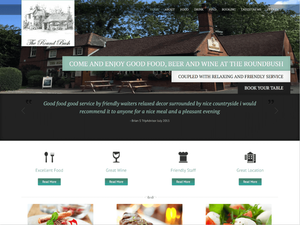 The Round Bush by Hemel Web Design
