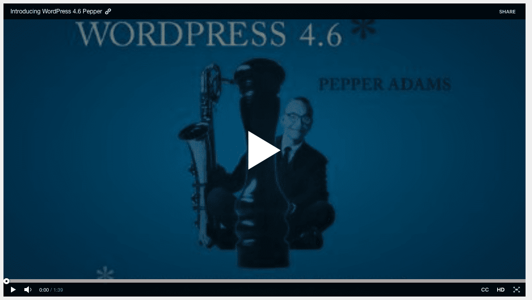 WordPress 4.6 Released