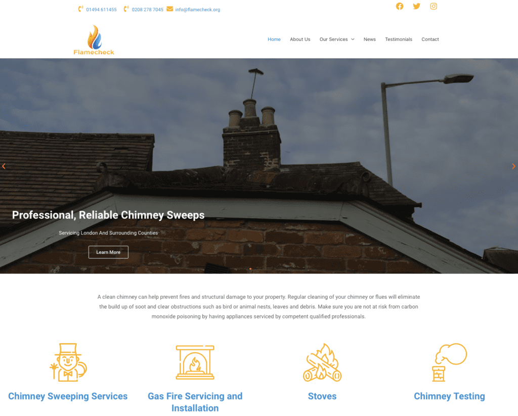 Flame Check - Hemel Web Design