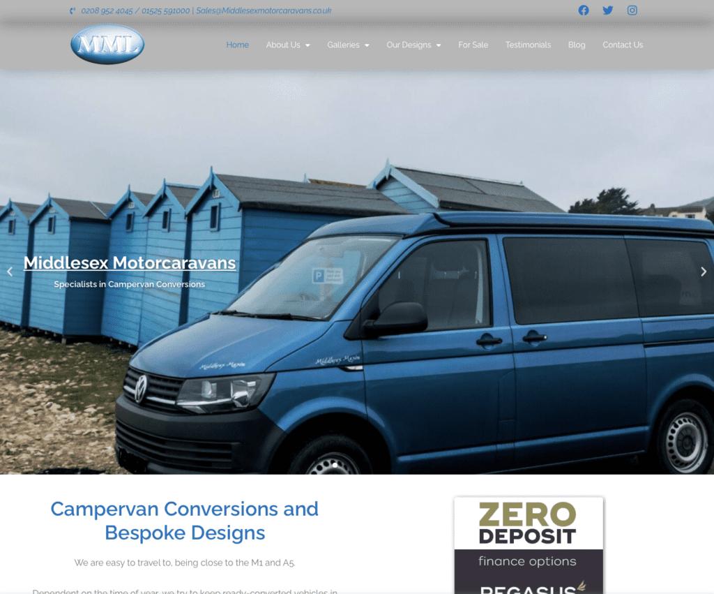 Middlesex Motorcaravans - Hemel Web Design