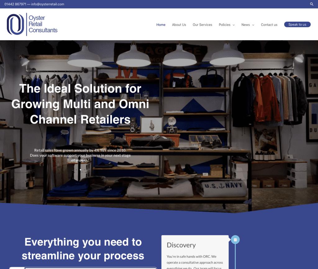 Oyster Retail - Hemel Web Design